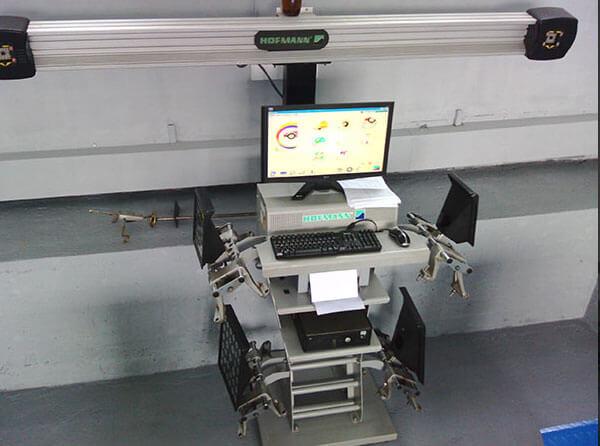 Lasersko centriranje trapa